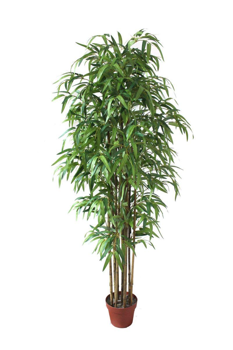 Blanke Kunstbamboe-plant 125cm
