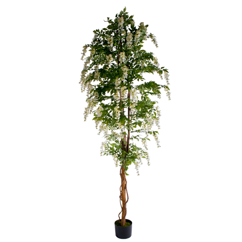 Grote Wisteria Kunstbloemboom Wit 300cm