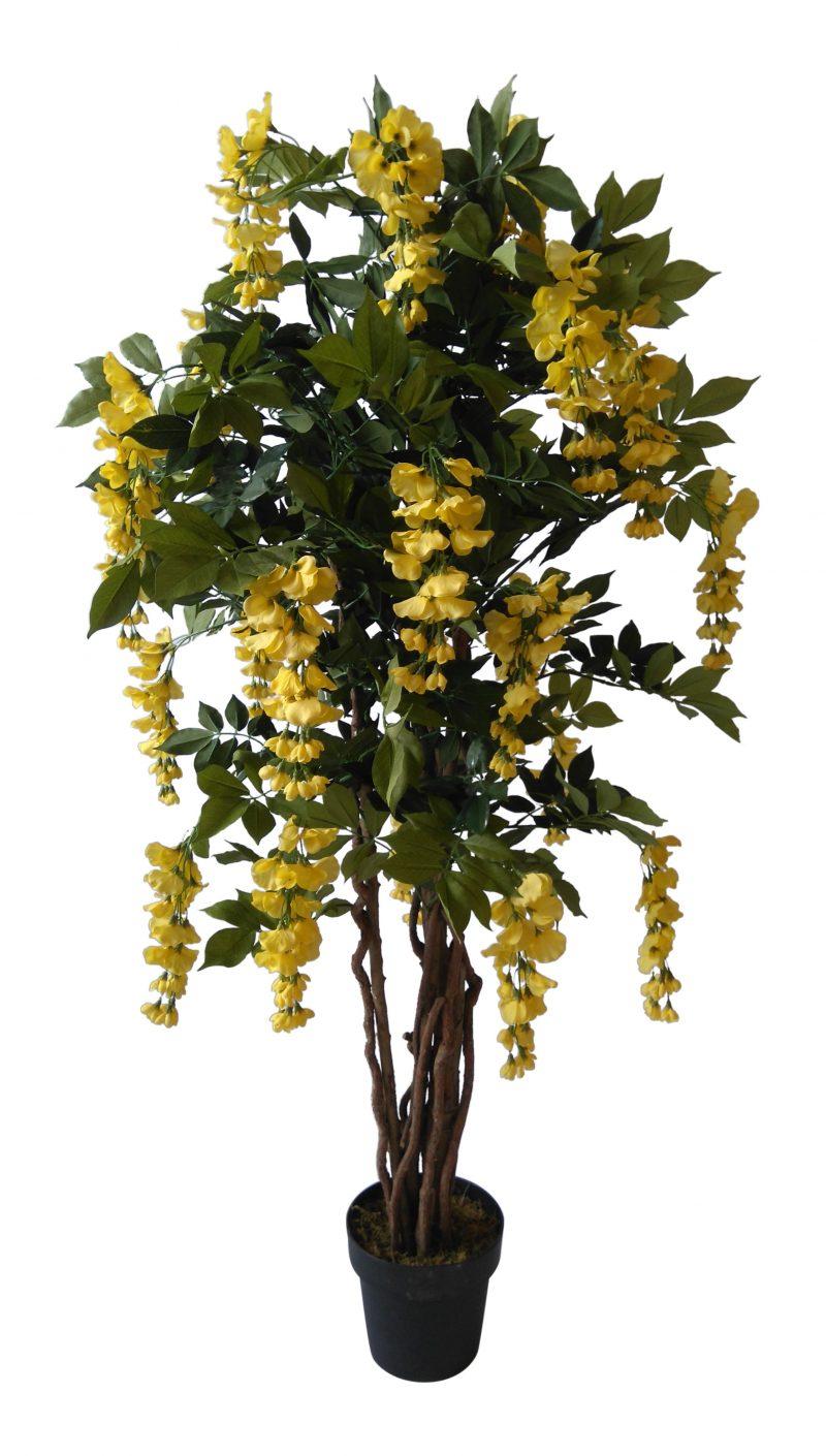 Kunst bloemboom Kiruna Geel 155cm