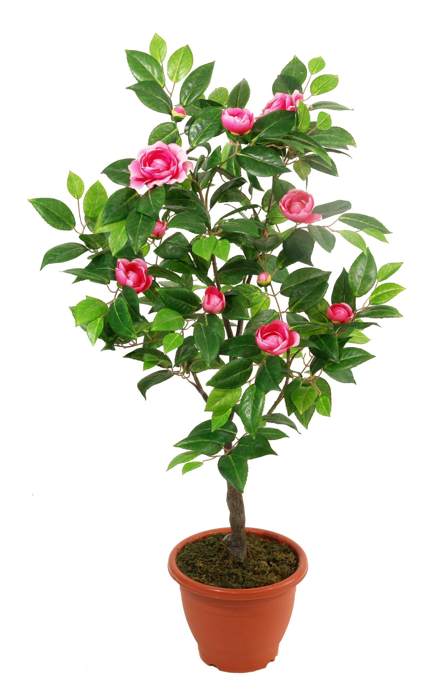 Kunstbloemboompje Camelia roze 90cm