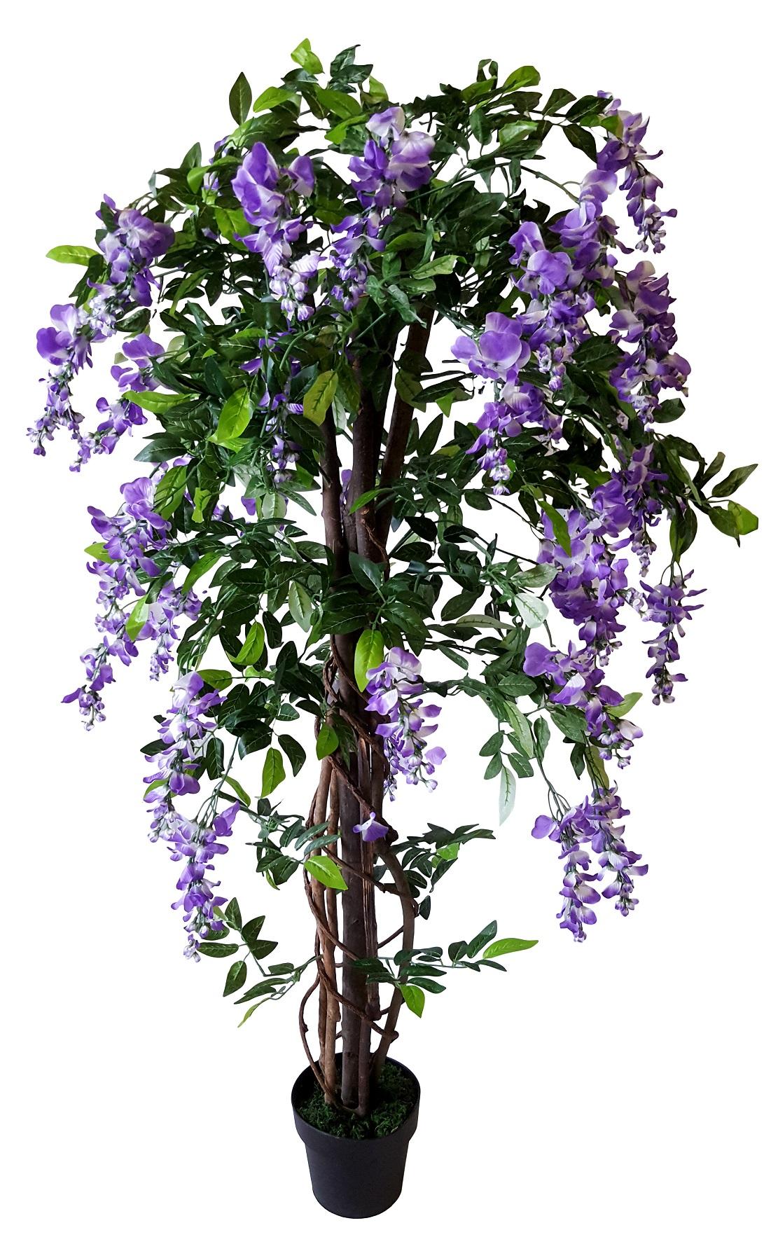 Kunstbloemen Boom Kiruna Paars 160cm