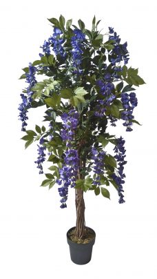 Kunstbloemen boom Kiruna Blauw 155cm