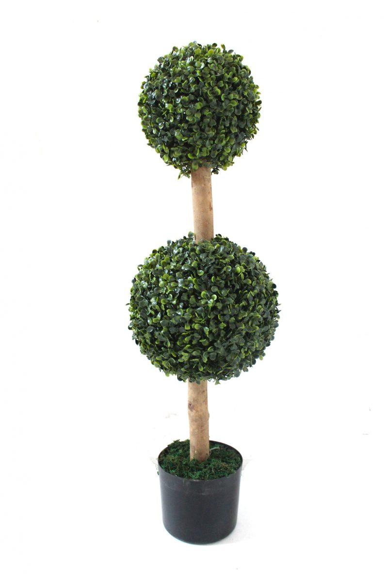 Kunstbuxusbollen op stam 90cm