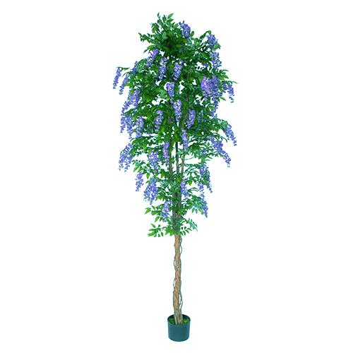 Wisteria Kunst-bloemboom blauw 300cm