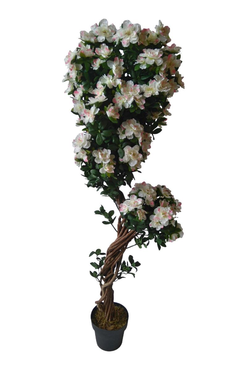 Wit-roze Kunst Azalea 165cm