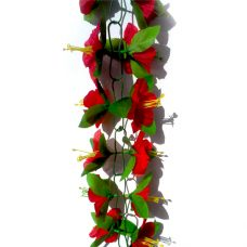 Kunstbloemenslingers rood 200cm