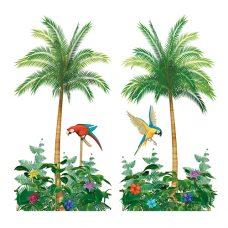Palmbomendoek met Papegaaien 2 stuks