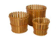 Bamboe Bloempotten Rond 25cm