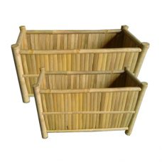 Brede Bamboe Bloembakken 60cm