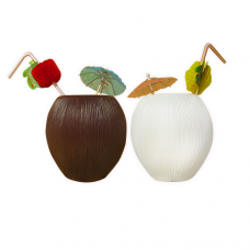 Kokosnootbeker Wit 12,5cm
