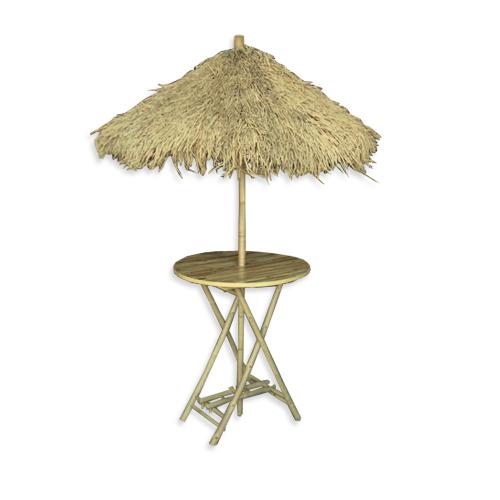 Rieten-Parasolset Hawaii D150cm H270cm