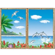 Tropisch-venster scenesetter 3 x 63x 83cm