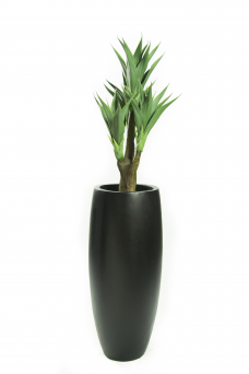 kunstagave vertakt vaas zwart 170cm