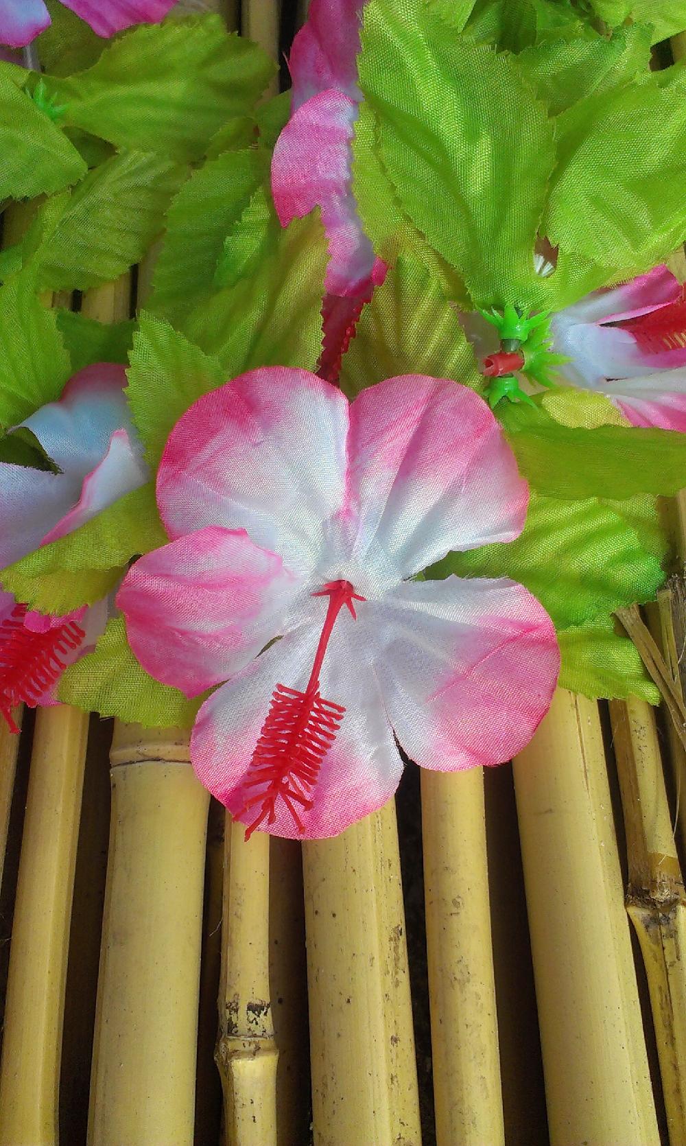 Hawaiikransen De Luxe Rose-Wit