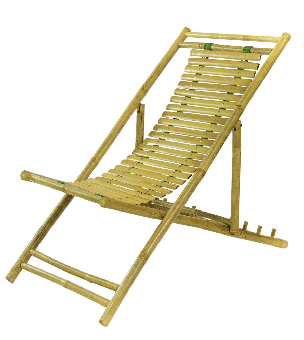 3-standen Bamboe Strandstoel