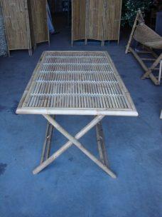Rechthoekige Bamboe Inklaptafel