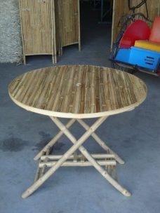 Ronde Bamboe Tafel