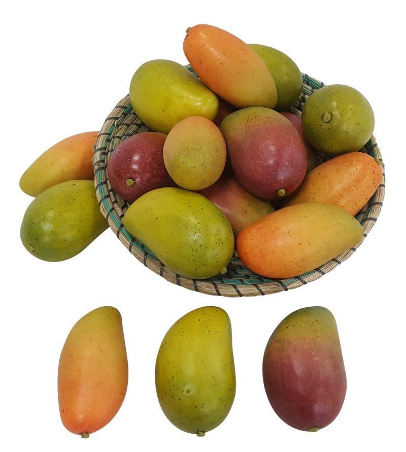Groen Gele Namaak Mango 13cm