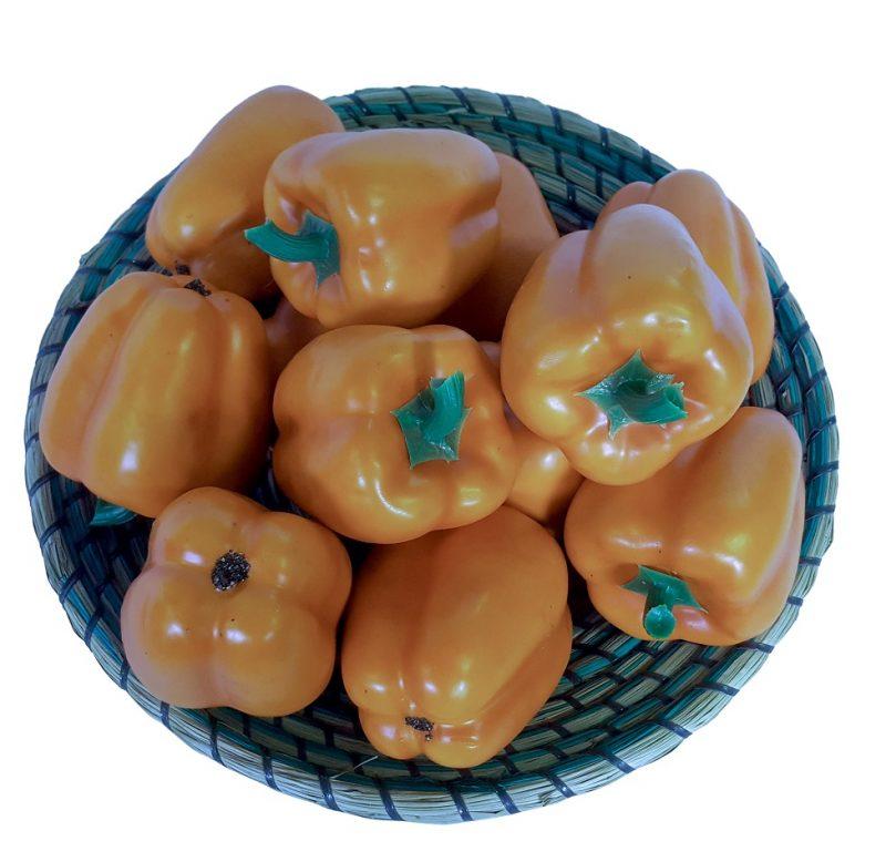 Oranje Namaak Paprika 10cm