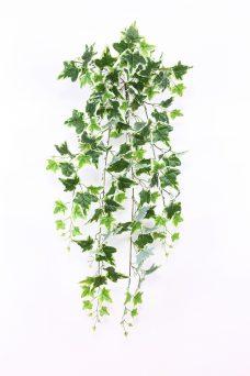 Kunst Hedera steker groen wit 90cm