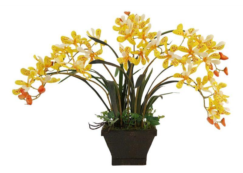 Kunst Orchidee Geel 45cm