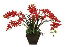 Kunst Orchidee Rood 45cm