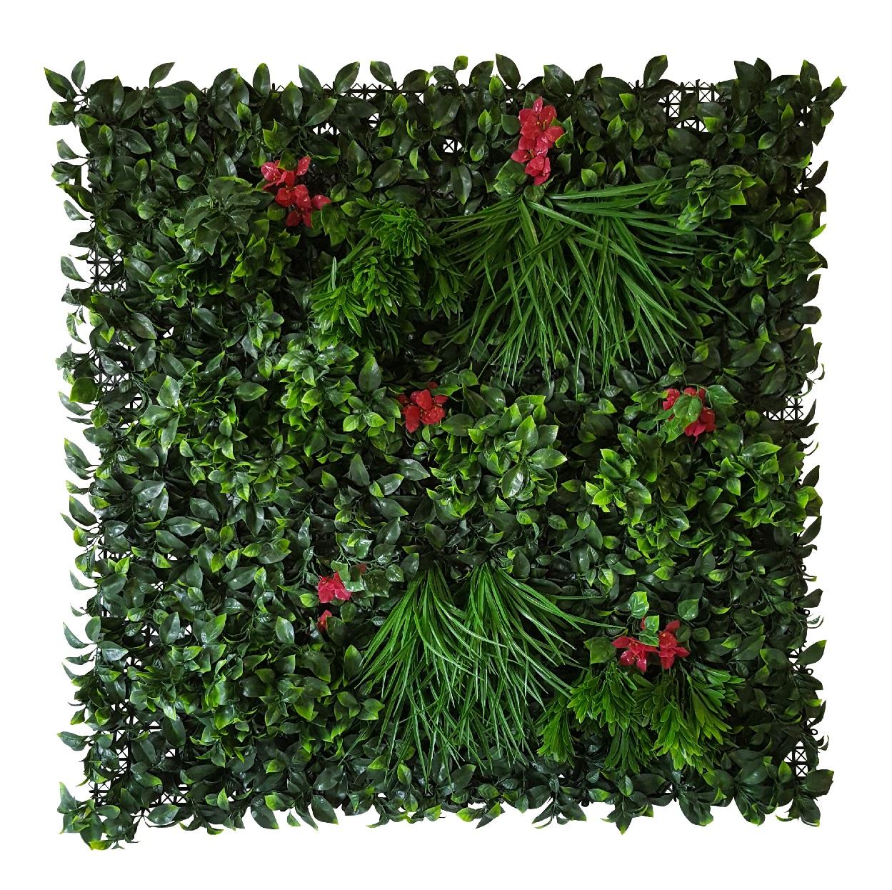 Kunstplanten Wand Gras-Laurier