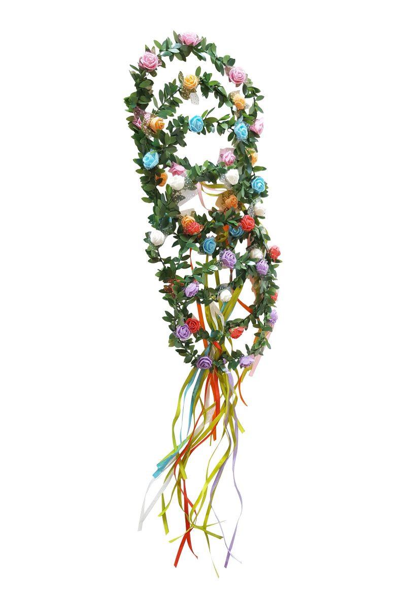 Bloemen Haarkrans Set van 6 Mixkleur set