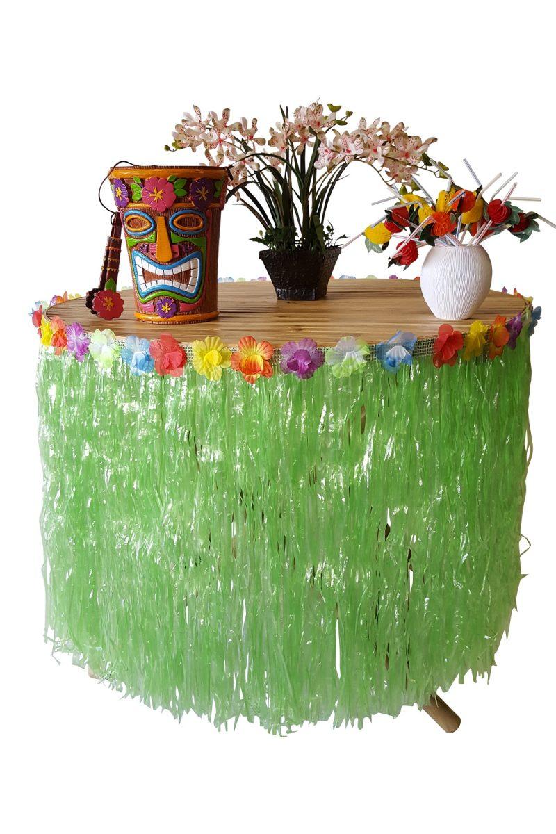 Groene Raffia Hawaii Tafelrok 250cm