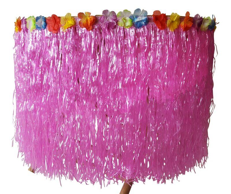 Roze Raffia Tafelrok 250cm