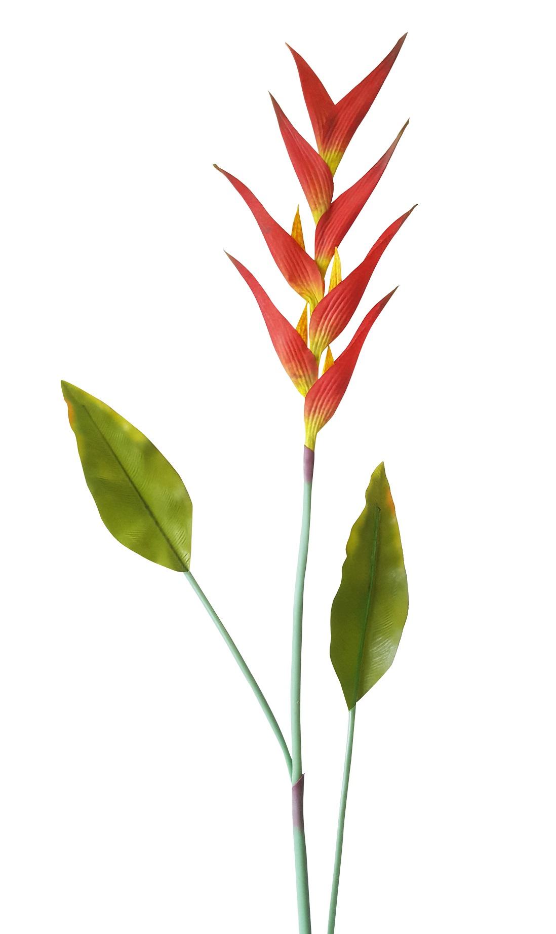 Kunst Papegaaibloem Rood 115cm