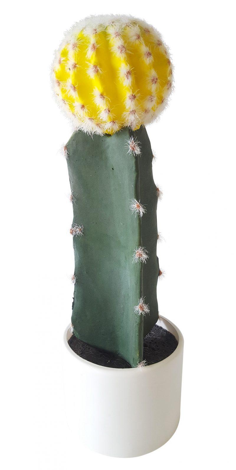 Nep Cactus met Gele Bol 38cm