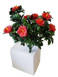 Rode Kunstbloemplant voor Buiten 50cm