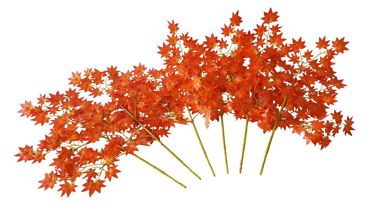 Esdoorn Neptakken Oranje-Geel set van 6 x 60cm.