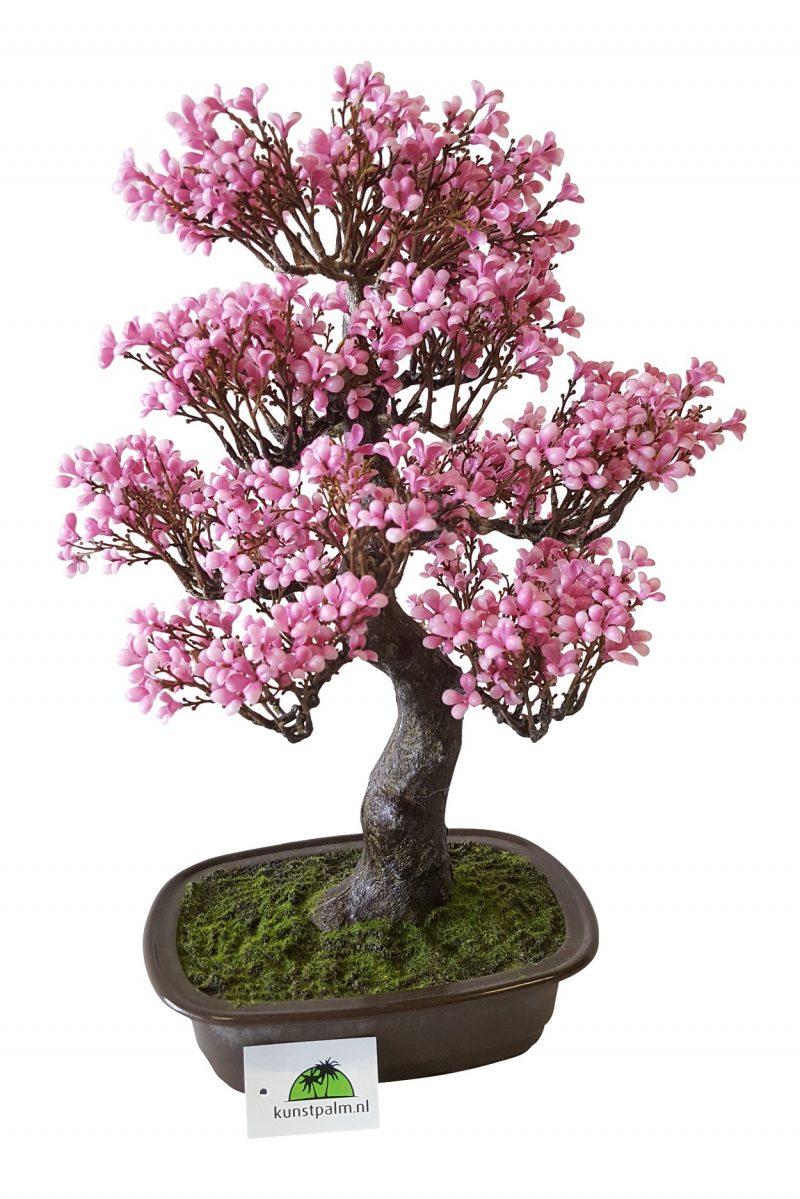 Kunstbonsai Boompje Roze Bloemblaadjes 46cm