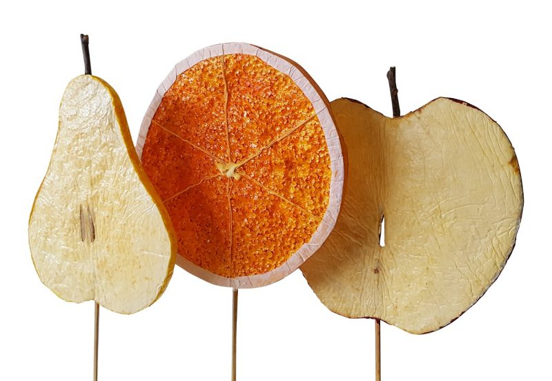 Deco Fruit Schijven Prikkers Groot 3x