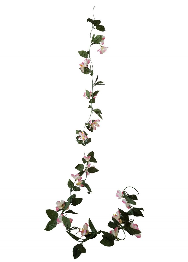 Kunstbloem Slinger Clematis rose-wit 230cm