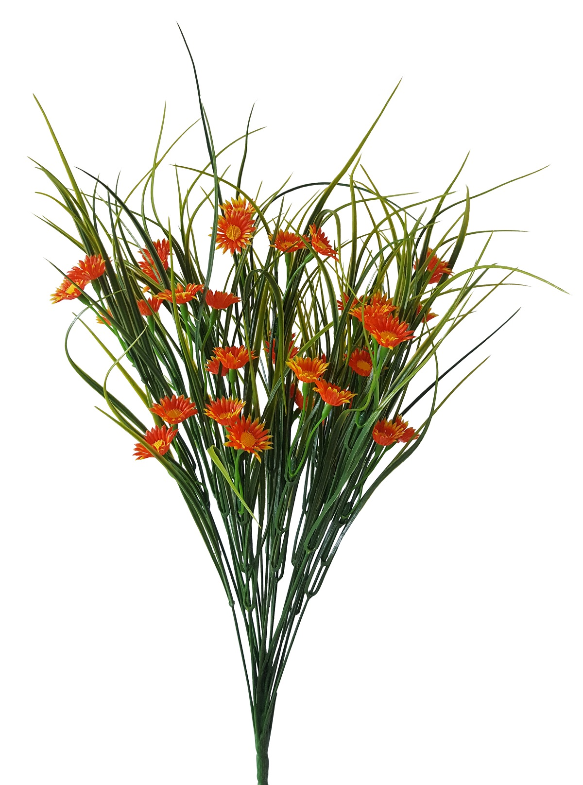 Kunst Bloemgras Steker Voor Buiten Oranje 55cm