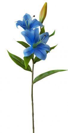 Kunstlelie Blauw 75cm