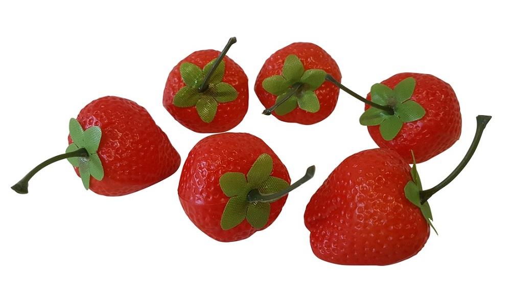 Imitatie Aardbeien 6 stuks