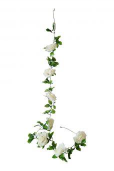 Grote Witte Rozen Slinger 180cm