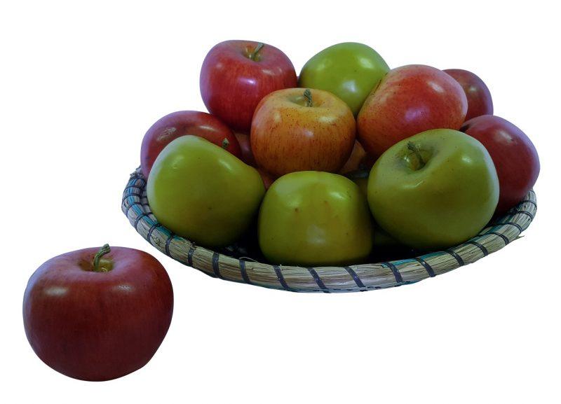 Geel Rode Namaak Appel 8cm