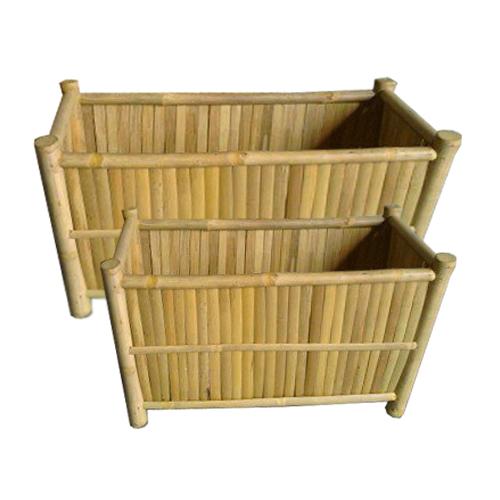 Brede Bamboe Bloembakken 80cm