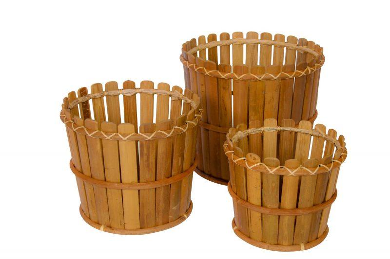 Bamboe Bloempotten Rond 30cm