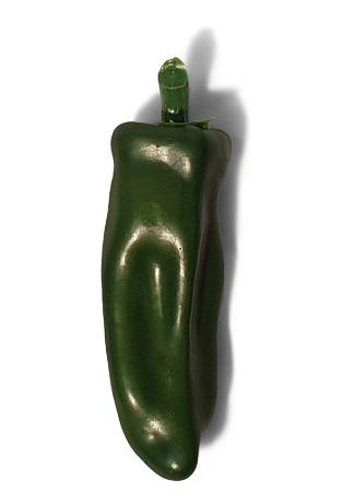 Grote Namaak Spaanse Peper Groen 14cm