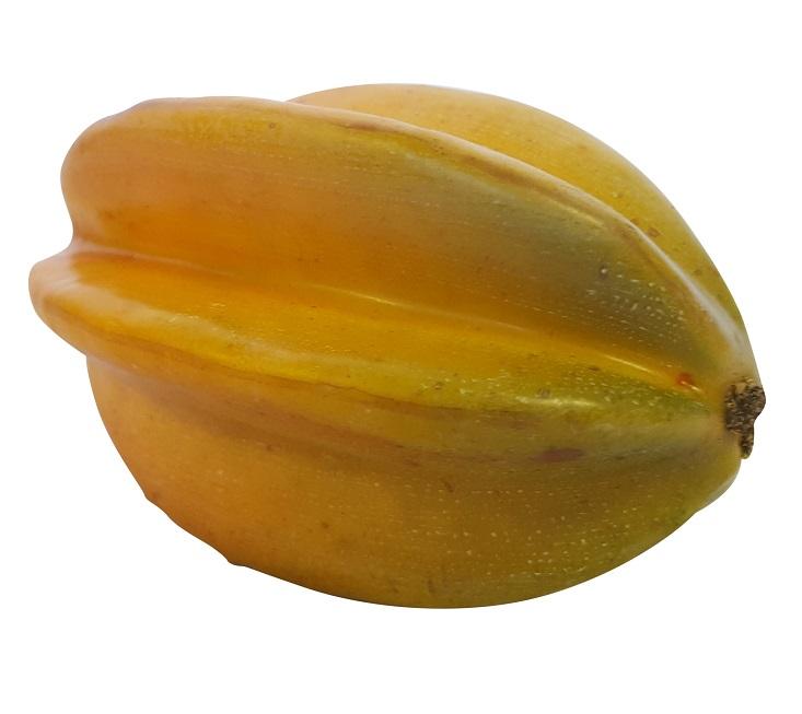 Namaak Carambola Oranje Groen 11cm