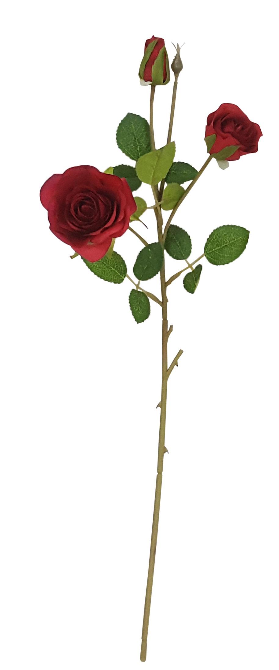 Rode Kunstrozentak 50 cm