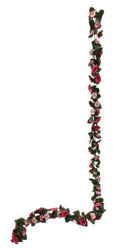 Donker Rose Bloemslinger 200cm