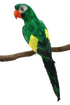 Groen Gele Namaak Papegaai 60cm