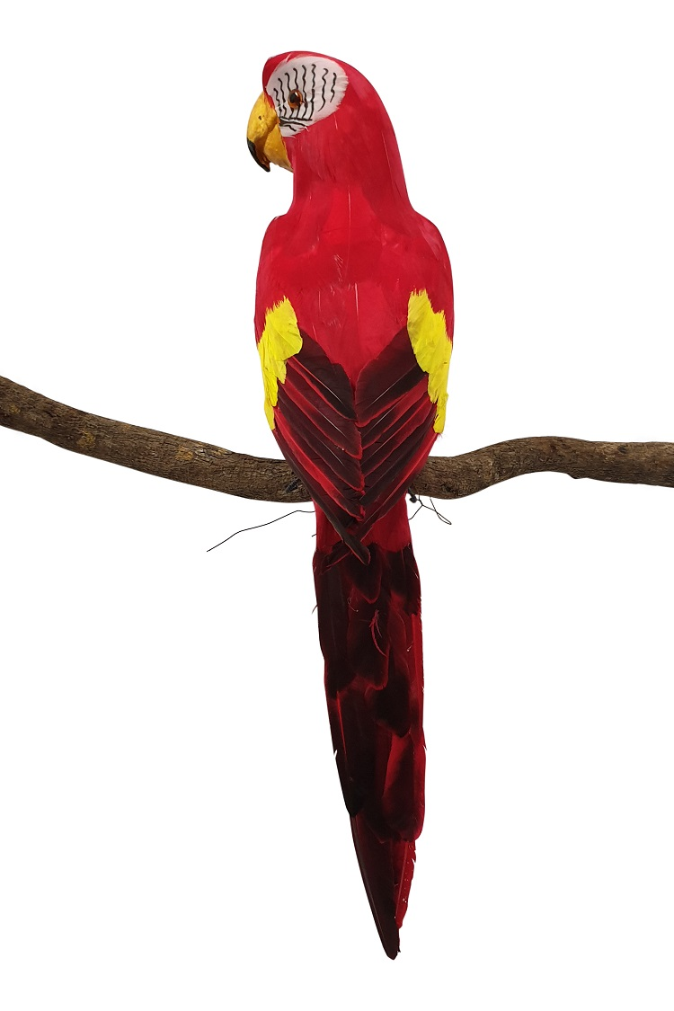 Grote Rode Namaak Papegaai 60cm